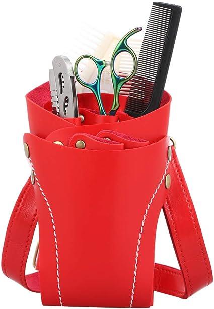 zroven Estuche de tijeras de peluquería Funda de tijera Funda con cinturón para peluqueros Estuche de funda de peluquería Bolsa: Amazon.es: Belleza