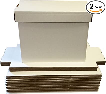 3 BCW Short Plastic Comic Storage Boxes White