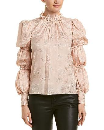 7ec12759a7d17 Amazon.com  Rebecca Taylor Women s Long Sleeve Glitter Top  Clothing