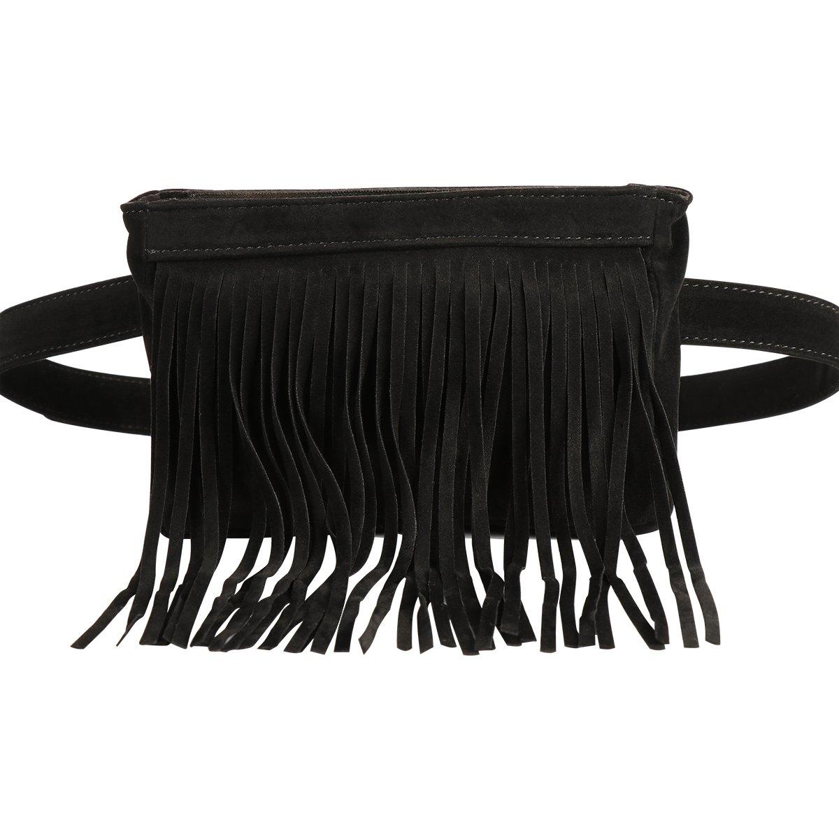 xhorizon FL1 Womens Elegant Leather Fanny Pack Cute Waist Pouch Stylish Travel Cell Phone Bag (Blue) 201710310444D