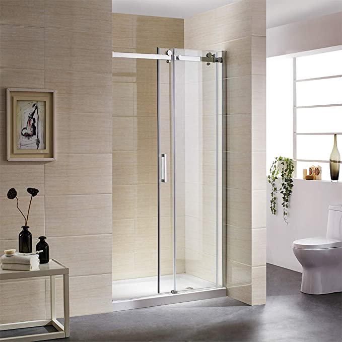 Mampara de ducha corredera con rueda de acero inoxidable y estabilizador de acero inoxidable de 120 x 195 cm, mampara de ducha de 8 mm ESG Nano GLAS: Amazon.es: Bricolaje y herramientas