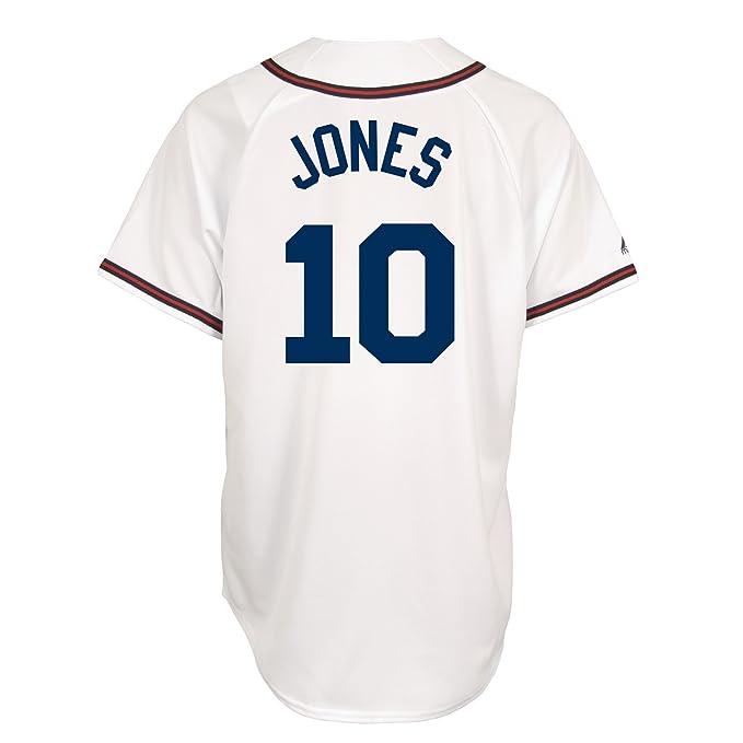 new styles 7e164 c4009 Amazon.com : Chipper Jones Atlanta Braves Replica Home ...