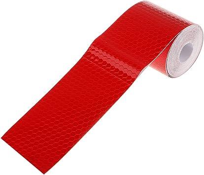 3m Etiqueta Adhesiva Cinta Reflectante Seguridad Advertencia para Coche Camión - Rojo: Amazon.es: Coche y moto
