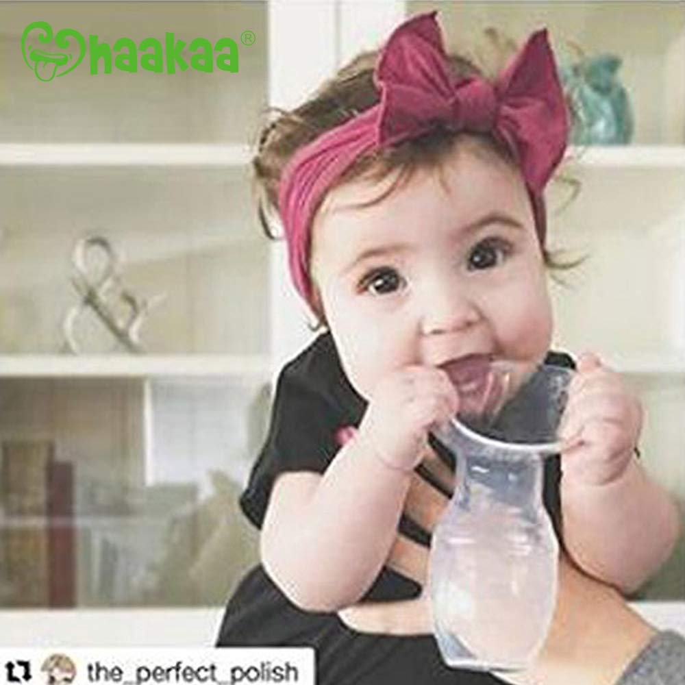 Haakaa Breast Pump Manual Breast Pumps Silicone Breastfeeding Pump Milk Pump 100% Food Grade Silicone (3oz/90ml) by haakaa (Image #7)