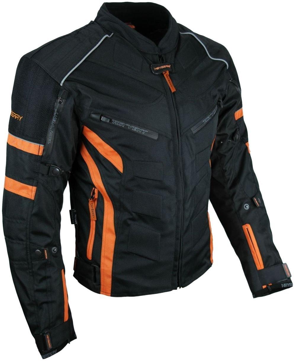 HEYBERRY Kurze Textil Motorrad Jacke Motorradjacke Schwarz Gr 7XL