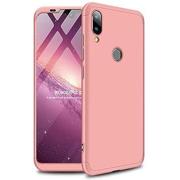 Funda Xiaomi Mi A2/Xiaomi 6X 360°Caja Caso + Vidrio Templado Laixin 3 in 1 Carcasa Todo Incluido Anti-Scratch Protectora de teléfono Case Cover para ...