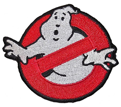 Ghostbusters Movie No Ghost Round 2.75 Inch Iron On Patch