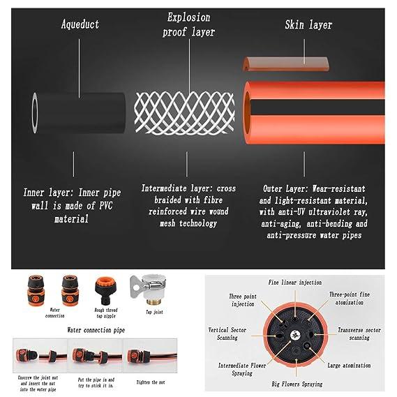 Amazon.com: Garden Hose Nozzles Telescopic Long Pole Washer ...