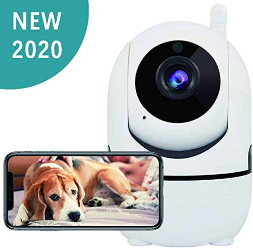 Dog Camera, 1080P Dog Camera with Phone App, Pan Tilt Zoom Home Camera with 2-Way Audio, AI Human Detection, Night Vision, Cloud Storage TF Card, Camera for Pets Baby