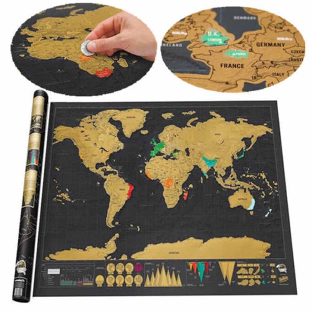 Scratch off world map scratchable world map deluxe world scratch scratch off world map scratchable world map deluxe world scratch off map diy art painting paper scratch your adventures travel map personalized mini gumiabroncs Choice Image