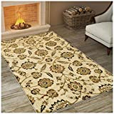Superior Canterbury Collection Area Rug, Classic Floral Pattern, 10mm Pile Height with Jute Backing, Affordable Contemporary Rugs – 4′ x 6′ Rug Review