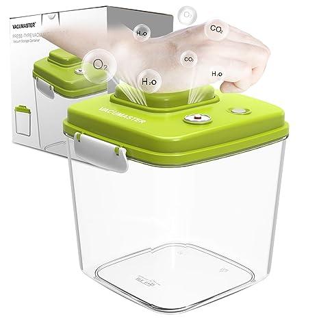 Food Storage Container With Vacuum Sealed Airtight Lid   Vacumaster Quick  Marinator Leak Proof BPA Free
