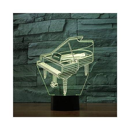 DONG Lámpara de ilusión de luz Nocturna para Piano Lámpara de Mesa ...