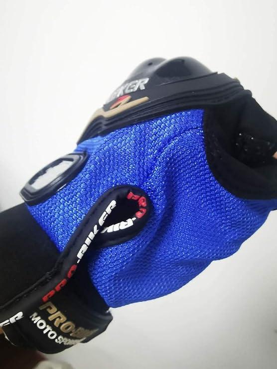 TW Pro Biker Gants de Moto Sports de Plein air Gants d/équitation Full Finger Knight Gants de Course Tout-Terrain Unisexes Respirants Noir et Bleu XL
