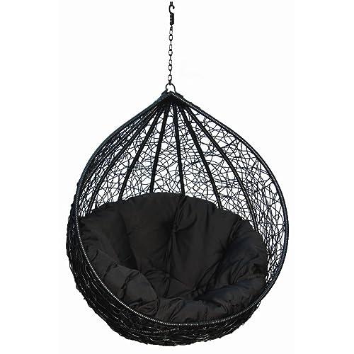 Carry Bird Outdoor Furniture Single Seater Swing / Hammocks, Beautiful  Black Color