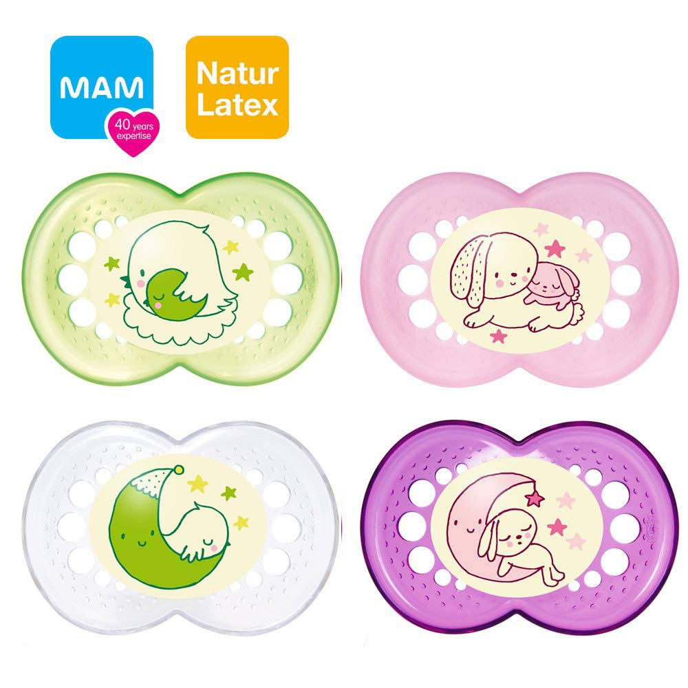 Mam Night Original naturlatex Chupete 16 +//Juego De 4 Girl ...