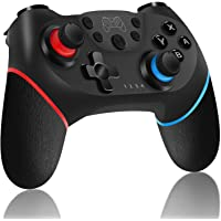 Control Nintendo Switch Inalámbrico, Joy-Con Pro Controller Remoto Bluetooth, con Giroscopio y Sensor de Gravedad, Función Turbo y Vibración dual, Alámbrico para PC (Sin NFC ni Función de Despertador)
