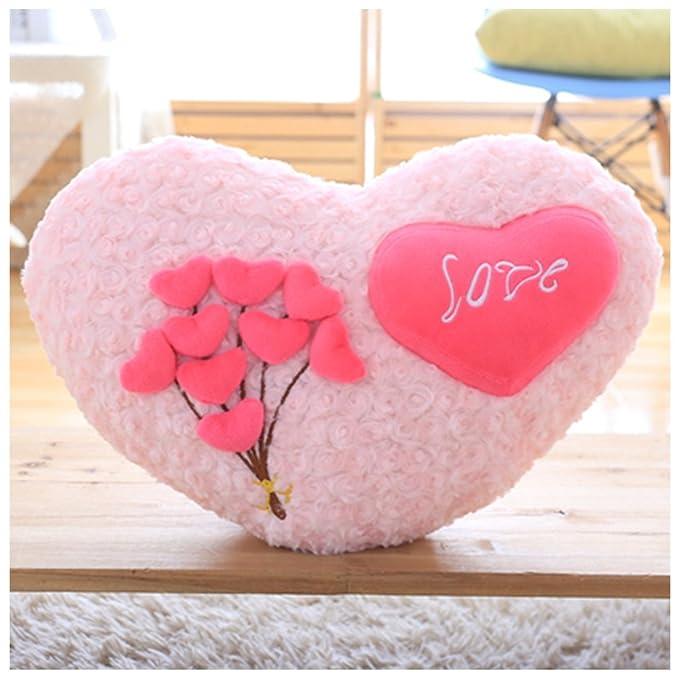 yookoon en forma de corazón almohada rosas amor cojín ...