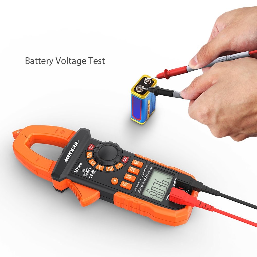Meterk Digital Clamp Meter 4000 Counts Auto Ranging Ideal 61532 Circuit Breaker Finder 120vac Energized Lines Be The Multimeter With Ac Dc Voltagecurrent Resistance Capacitance Frequency Diode Hz Test