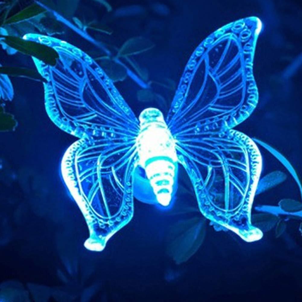 装飾的な太陽蝶ライトガーデン細い棒の屋外の導かれた芝生 10発売から B07S1W7SWF