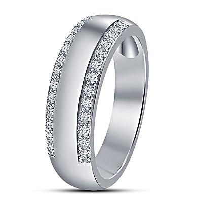 Vorra Fashion Men S Spl Wedding Anniversary Band Ring In White