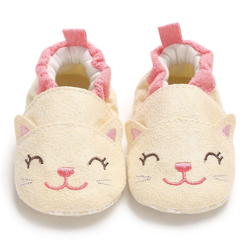 WINJIN Chaussures pour Enfants Filles,Chaussures B/éb/é Mignon Dessin anim/é Chaussures Premiers Pas Enfant Chaud Chaussons Tout-Petits Animal Molles Gar/çon Pantoufles de Coton