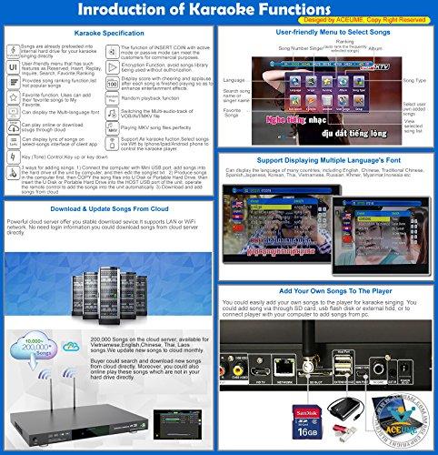 3TB HDD 59K Android Karaoke Machine,Thai, English Songs,3TB HDD 59K Android  Karaoke Machine Thai+English Songs Player,Cloud Jukebox