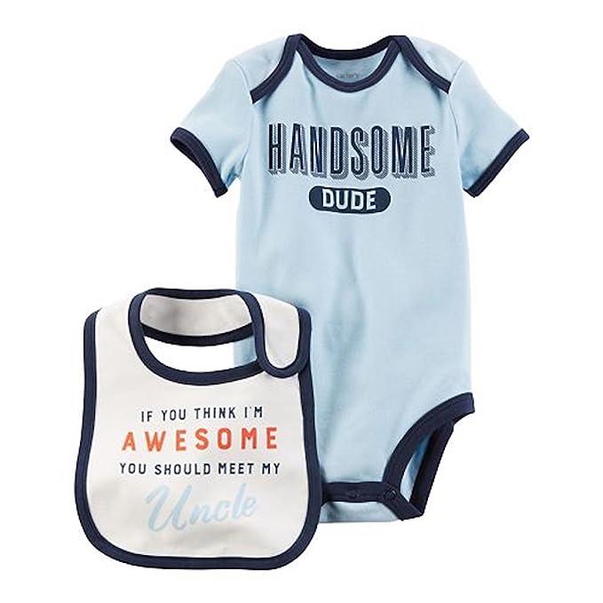 a611b339cd21 Amazon.com  Baby Boy Carter s Family Slogan Graphic Bodysuit   Bib ...