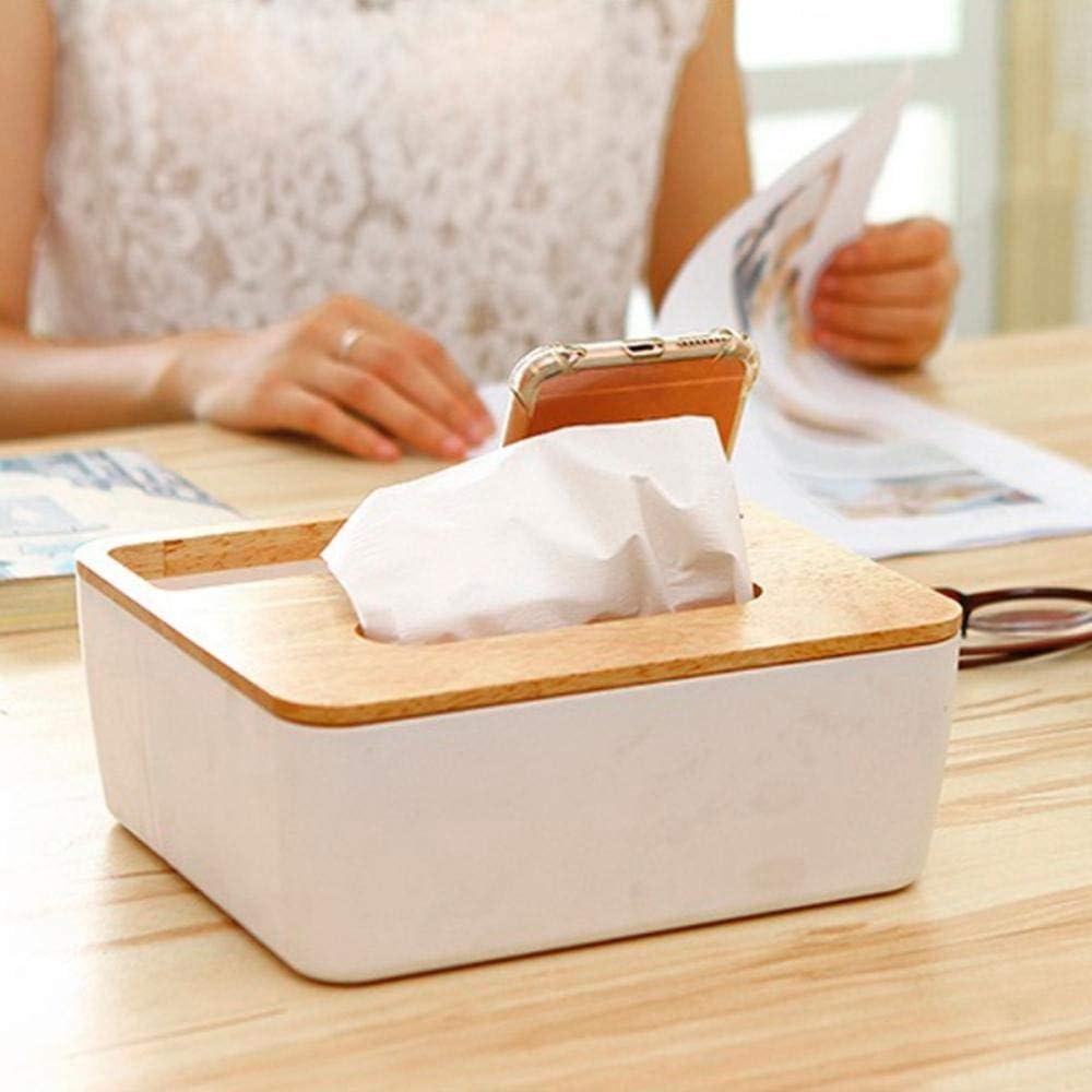 QAP Tissue Box Dispensador Wooden Cover Paper Storage Rack Napkin Box Storage Box Car Napkin Holder Tissue Box