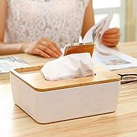 QAP Tissue Box Dispensador Wooden Cover Paper Storage