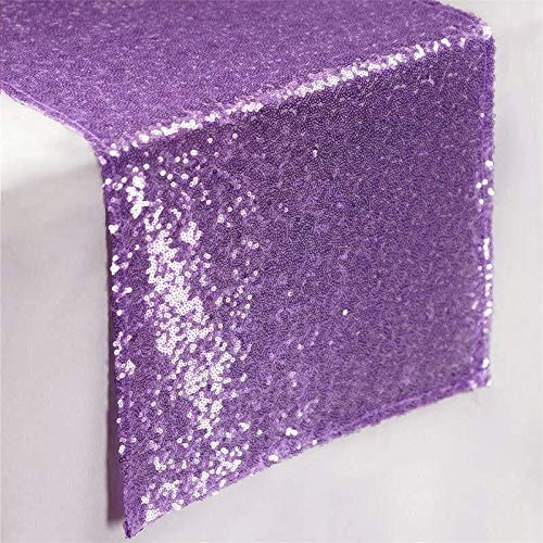 Lavender Table Cover Lavender 14x72-Inch Sequin Table Runners Graduation Party Supplies 2018~0114E -