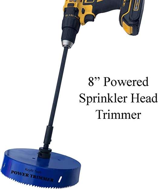 Keyfit Tools Power Sprinkler Head Trimmer 8 Diameter Trim Clean Golf Course Heads In Seconds For Overgrown Sprinklers Clean Appearance Adjustment Replacement Raising Cordless Drill Attachment Amazon Ca Patio Lawn