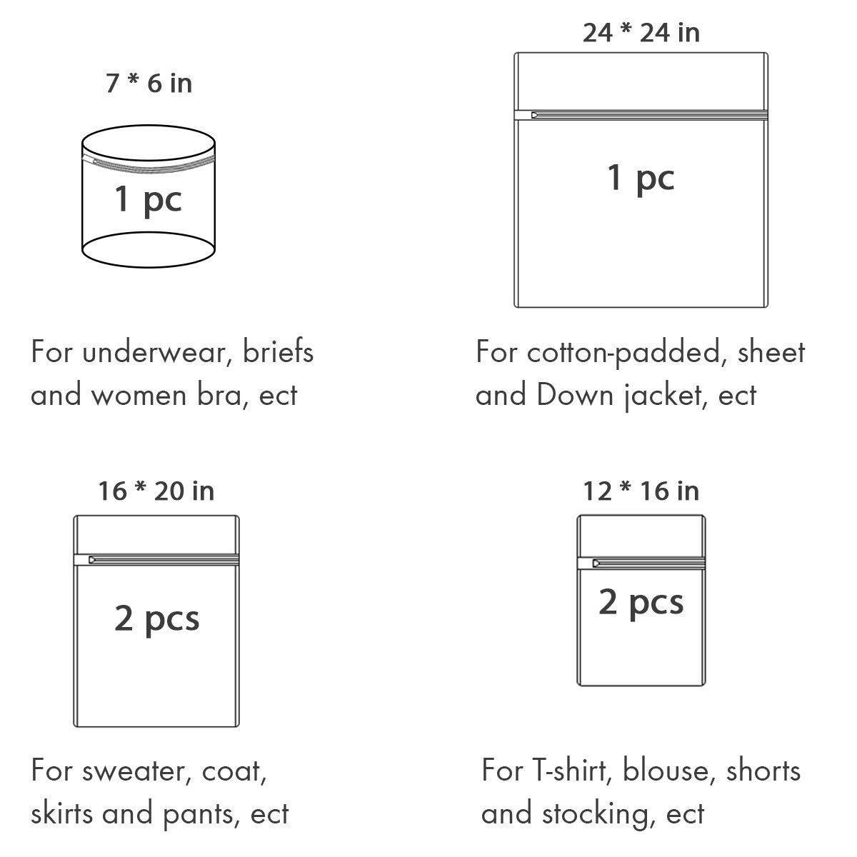 REFURBISHHOUSE - Bolsas de lavandería de malla para ropa sucia (6 ...