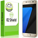 Galaxy S7 Screen Protector, IQ Shield LiQuidSkin (2-Pack Case Friendly) Full Coverage Screen Protector for Galaxy S7 HD Clear Anti-Bubble Film