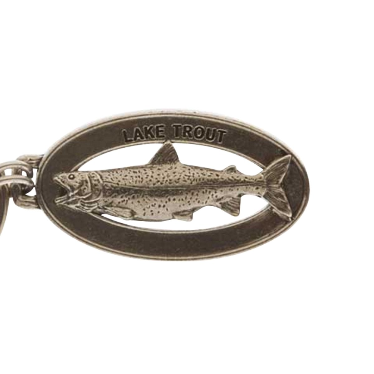 Creative Pewter Designs, Pewter Lake Trout Key Chain, Antiqued Finish, FK019