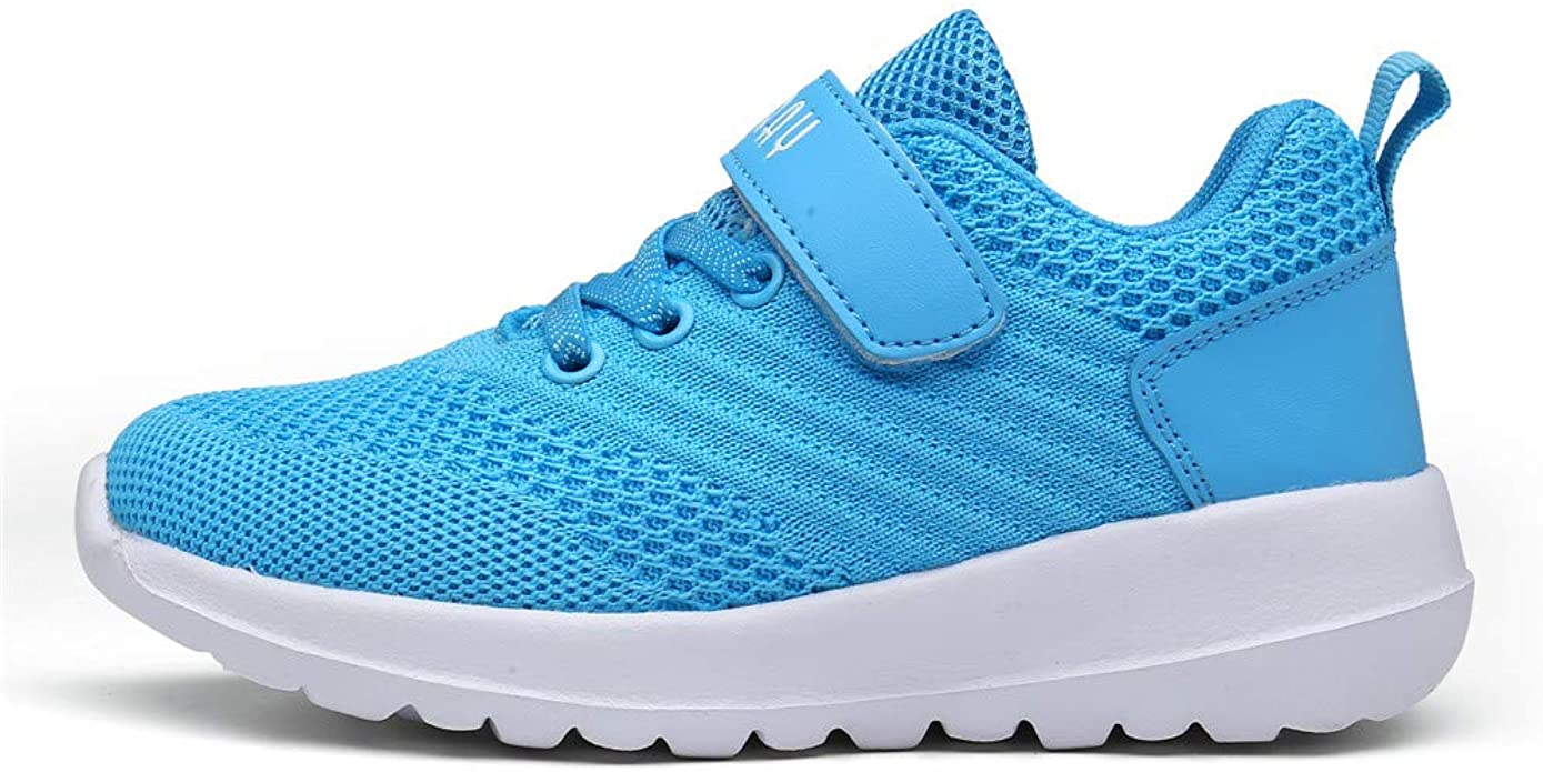 PAMRAY Kids Sport Shoes Boys Girls Tennis Running Athletic Walking Gym Jogging Sneakers