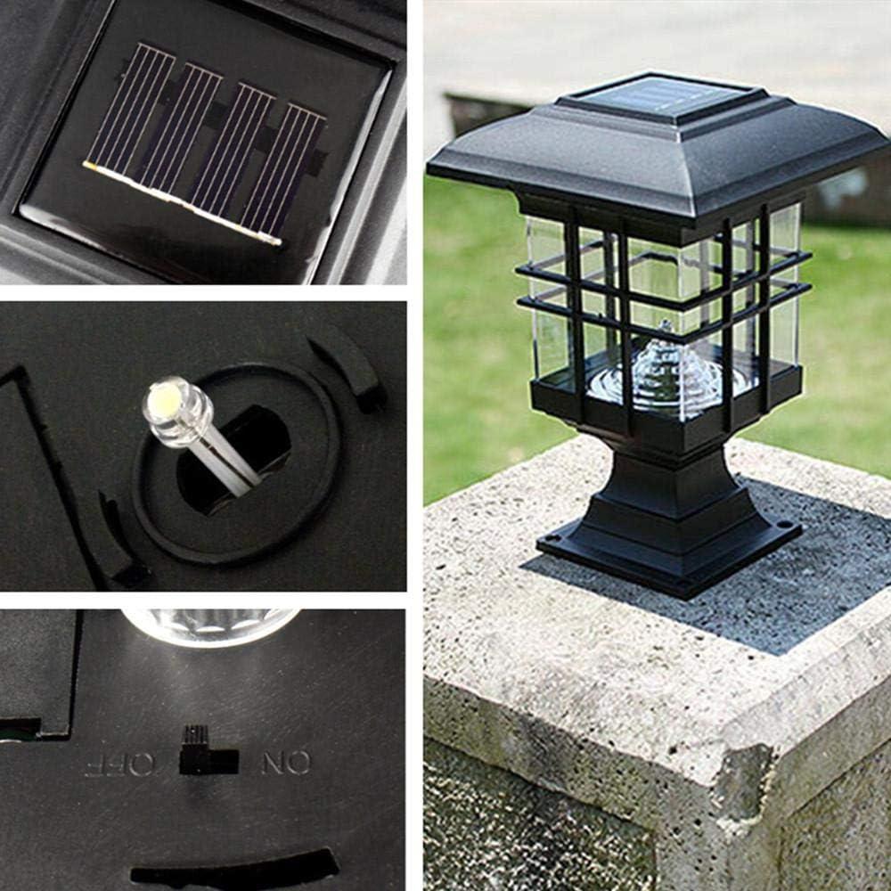 Rinnitt Solar Beitrag Licht Solarbetriebene Lampen-Pfosten-Licht Solar-Pfosten-Licht Solar Patio Licht Fabulously Helle 150 Lumen Aus Aluminium-Druckguss Und Glas ST4618Q-A