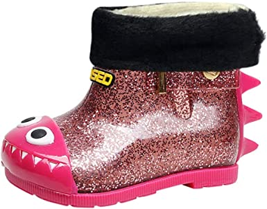 Waterproof Boots, Children Kids Flock