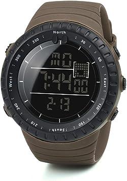 Logobeing Digital Reloj Deportivo, Reloj Militar Hombre Cuarzo España Negro Ejército Digital de Los Deportes Moda (Café): Amazon.es: Deportes y aire libre