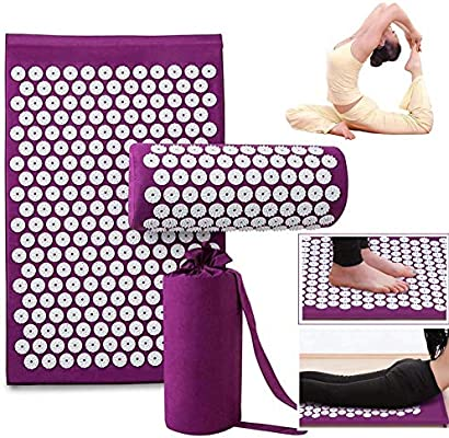 YX® Acupressure Mat and Pillow Massage Set   Organic Eco