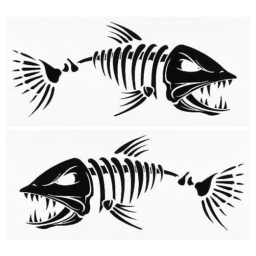 LNNUKc 2 Piezas Pegatinas de Dientes de Pescado Pegatinas de ...