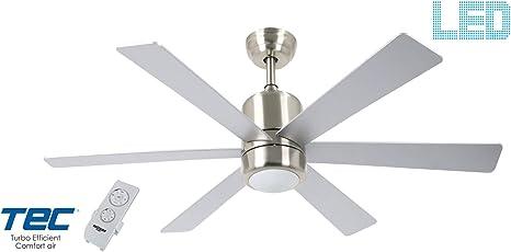 Bastilipo 7821-Mónaco Niquel Mónaco Ventilador de Techo LED con ...