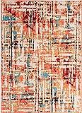 Antep Rugs 777 Pastel Collection Contemporary Polypropylene Indoor Area Rug (Multicolor, 5' x 7')