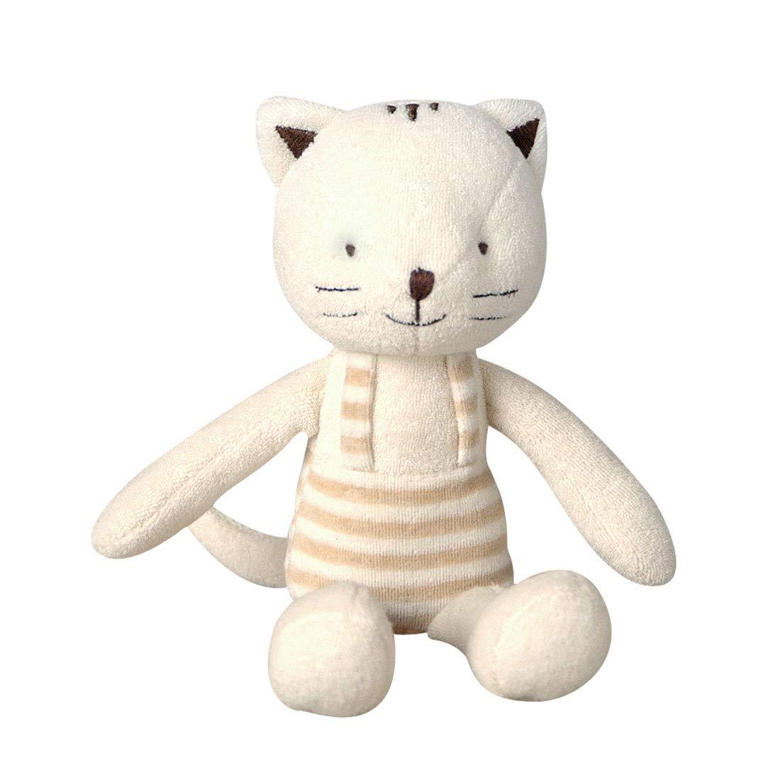 [Organic Shop] 100% Organic Cotton Baby Stuffed Animal Doll (Cat Doll)