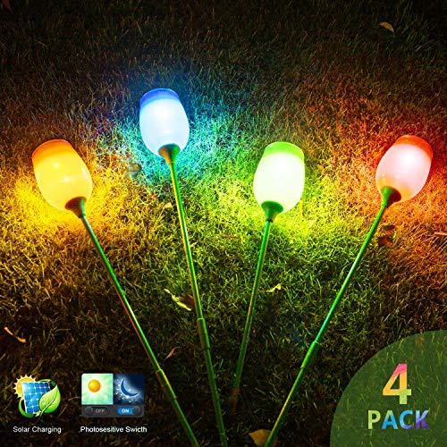 Cheap FC-Fancier Solar Lights Outdoor,Halloween Decorations,Solar Powered Pathway Light,Landscape Light for Lawn/Patio/Yard/Walkway/Driveway(4-Pack)