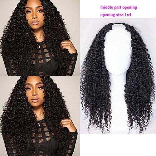 Foxys' Hair 130% Density Human Hair Upart wig Peruvian U Part Wig for Black ()