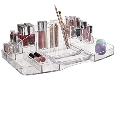 US Acrylic Large Capacity Cosmetic Storage and Makeup Organizer