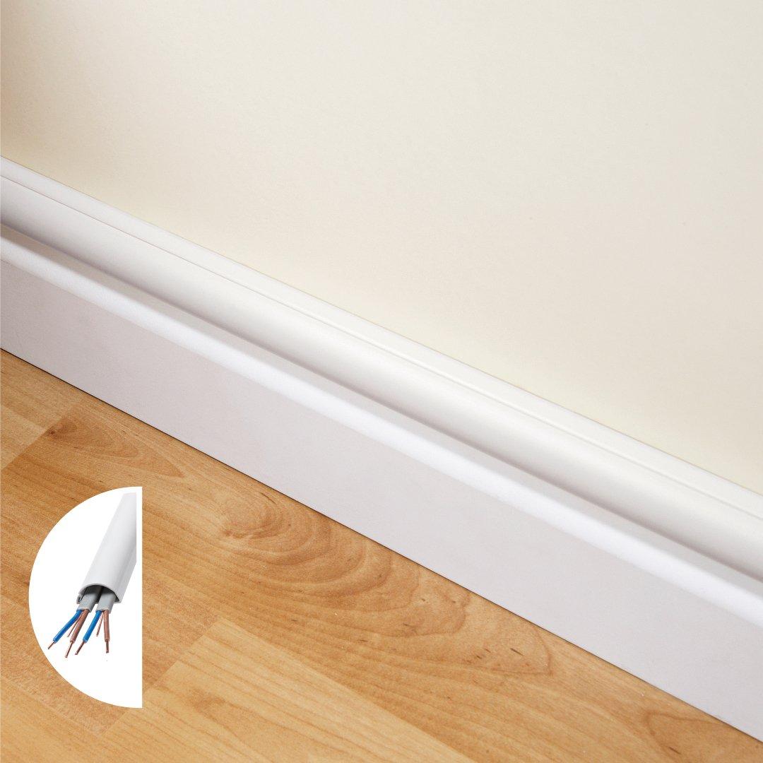 2010KIT001 Cachez et Prot/égez les C/âbles Facilement Blanc Goulotte D/écorative D-Line Kits de Goulottes