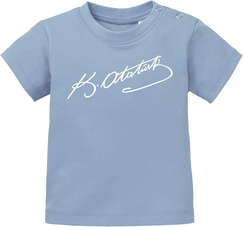Atat/ürk Rundhals T/ürkei K Comedy Shirts Baby T-Shirt Kurzarm Basic Print-Shirt 100/% Baumwolle