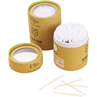 SUPVOX 200pcs Double Head Cotton Swab Disposable Cotton Sticks for Ear Cleaning Cosmetic White